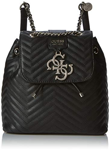Guess Violet Backpack, Zaino Donna, Nero (Black), 25.5x25x14 cm (W x H x L)