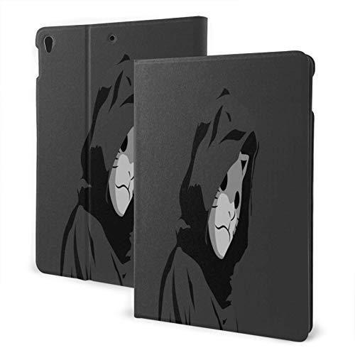 hangong Apples Pad Case For 7th Air3 A2197 A2200 A2198 A2199 A2152 A2123 A2153 A2154 A1701 A1709,Sad Depressing Mask Minimalism Artwork Gray Twitter Gray Background Naruto (Anime)