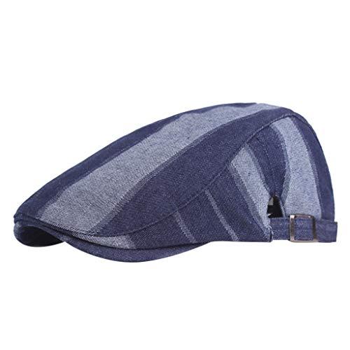 Longra Baskenmuts voor mannen en vrouwen, uniseks, plat, traditioneel, warm, voor de winter, outdoor-activiteiten, cowboy, platte muts