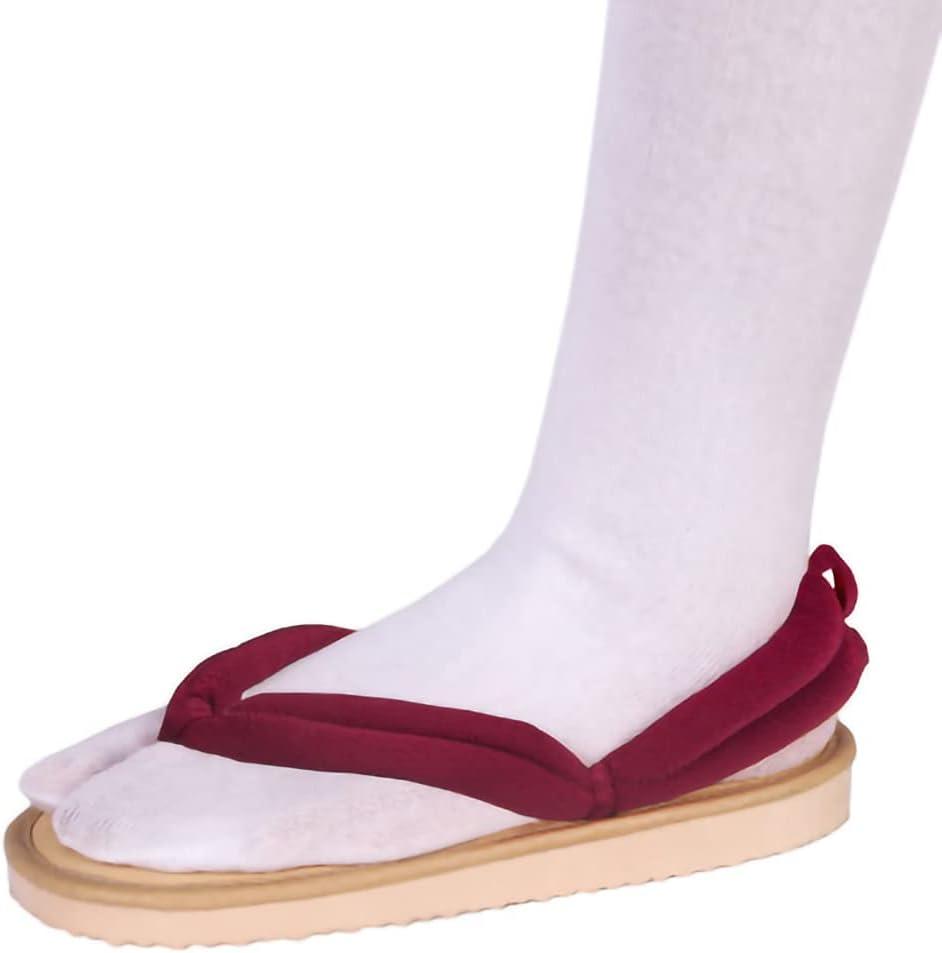 Clogs for Demon Slayer Shoes,for Kamado Tanjirou Cos,Men Women Traditional Samurai Japanese Geta Clogs Wooden Flip Flops