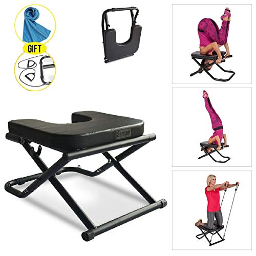Cheapest Price! Apelila Yoga Chair Inversion Bench - Stand Yoga Chair Headstander for House, Gym Bui...