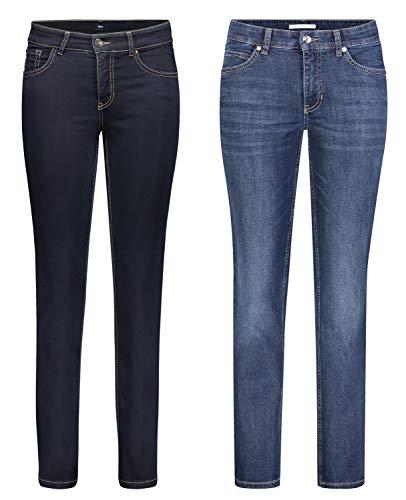 MAC Melanie - 2er Pack Damen Jeans in Verschiedene Farbvarianten, Größe18:W36/L36, Farbe:D801+D845