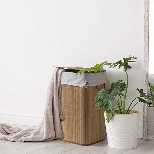 dmail Cesta Porta Biancheria in Bamboo