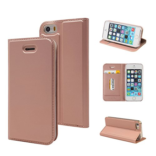 iPhone SE ケース, iPhone5s ケース, iPhone5 ケース, [MTRONX] 軽量 超薄型 超耐磨 最軽量 手帳型 マグネ...