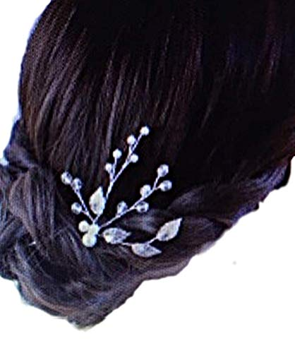Fashion Jewery Damen Haarschmuck Accessoires Diadem Hochzeit Braut Haarnadeln Silber Haardekoration Haarnadel Haarstecker Kristallen Kristall Perlen Silber edel