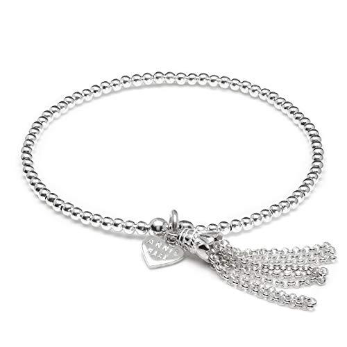 Annie Haak Santeenie Silver Charm Bracelet - Chain Tassel 19cm