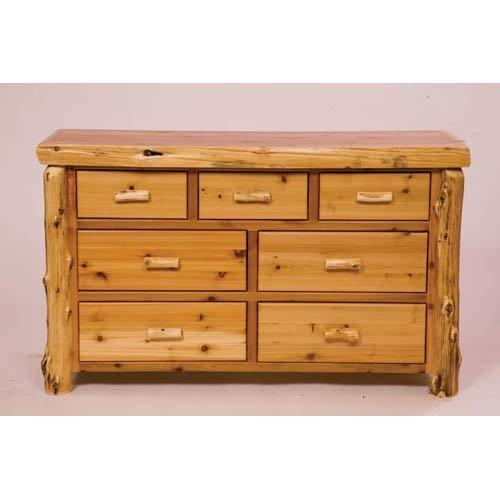 Hot Sale Fireside Lodge Furniture 12050-P Cedar 7-Drawer Dresser, Traditional Premium