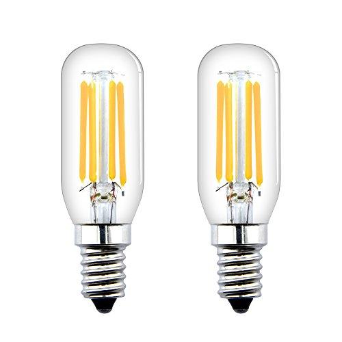 Bonlux 4W E14 Ampoule LED T26 Filament Tubulaire Petit Culot à Vis E14 Frigo Ampoule LED Equivalent à l'ampoule halogène 40W pour Réfrigérateur/Congélateur/Micro-ondes/Hotte(2pcs, Blanc Froid 6000K)