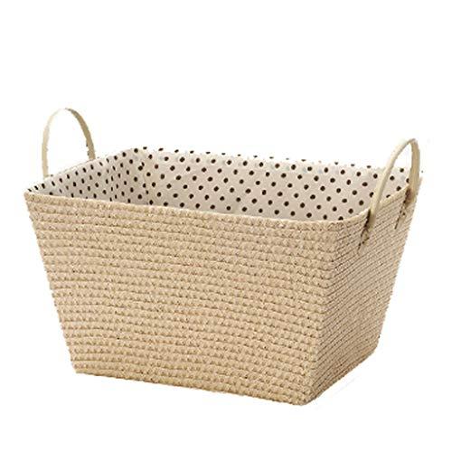 Laundry Basket XINGDONG Cesta de almacenamiento simple cesta de almacenamiento tejido Ropa de juguete cesta de acabado para el hogar de gran tamaño (color: beige, tamaño: S)