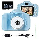 litthing regali 3-10 anni fotocamere per bambini fotocamere digitali 8.0 mp per ragazze ragazzi funzioni fotografi videogiochi regali video compleanno natale (scheda 32g tf inclusa) (blu) (blu)