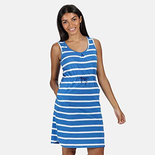 Regatta Felixia' Adjustable Waist Curved Neckline Sleevless Casual Dress Women's, Strong Blue, 18