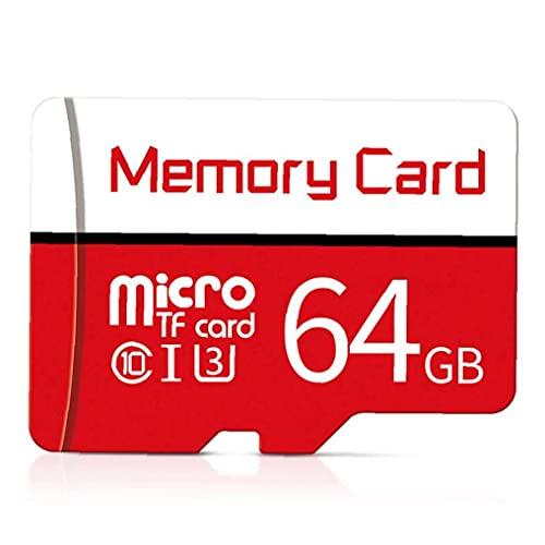 FeelMeet Tarjeta Micro SD SDXC Clase 10 de Alta Velocidad Tarjetas de Memoria con Tarjetas Multi Libre SD de 64 GB Uso Atapter