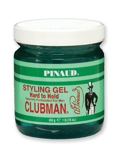 Pinaud Clubman Clubman Pinaud est difficile de tenir Styling Gel spécialement conçu pour les hommes, 16 onces (Pack de 3)