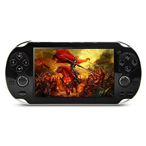 CZT New 4.3 Pouces 8 GB Console de Jeux vidéo construit dans 1800+ Jeux pour Arcade et Autres 10 simulateurs Console de Jeu Portable Jeu Lecteur vidéo de Musique Ebook (Black)