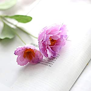 MEIHON 6pcs/lot Artificial Silk Poppies Flowers Silk Poppy Flower for Home Wedding Party Decoration (Purple)