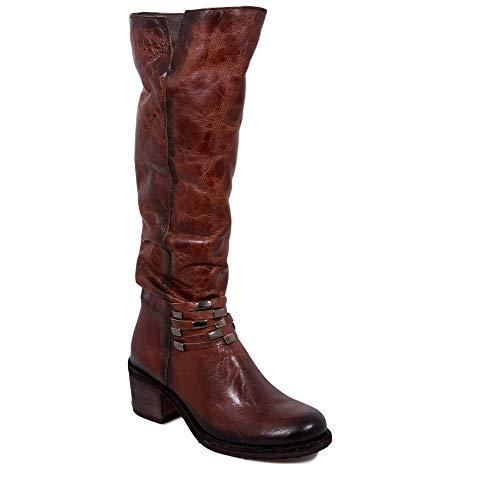 Felmini - Women Shoes - Falling in Love with Giani B289 - Zip High Boots - Genuine Leather - Brown - 35 EU Size