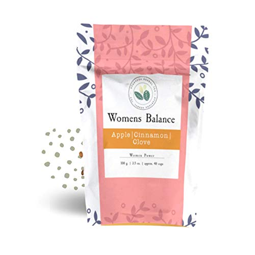 Ayurveda Herbal Tea - Superior (Womens Balance) - Organic Herbal Loose Leaf Tea - Apple, Blackberry Leaves, Ginger, Cinnamon Sticks (1 pack of 100g)