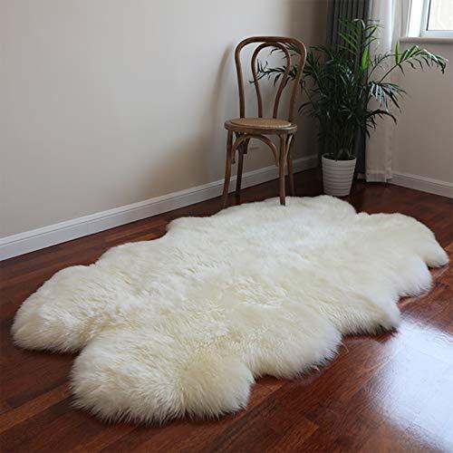 Altlue Real Large Quad Sheepskin Rug Large Fluffy Sheepskin Throw Rug Genuine Fur Rug...