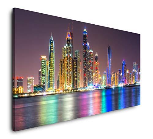 quadri moderni soggiorno dubai Paul Sinus Art Skyline di Dubai 120 x 60 cm Panorama Quadro XXL Immagini da Parete Soggiorno Decorazione Arte