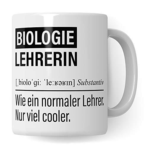 Biologielehrerin Tasse, Geschenk für Biologie Lehrerin, Kaffeetasse Geschenkidee Lehrer, Kaffeebecher Lehramt Schule Bio Unterricht Witz Biolehrerin
