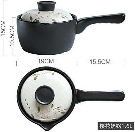 Pot De Lait Léger De Style Japonais Pot Antiadhésif Ménage Bébé Complément Alimentaire Pot De Bouillie Pot Cuisine Petit Pot Pot De Nouilles Pot De Soupe 1L(Size:1L)