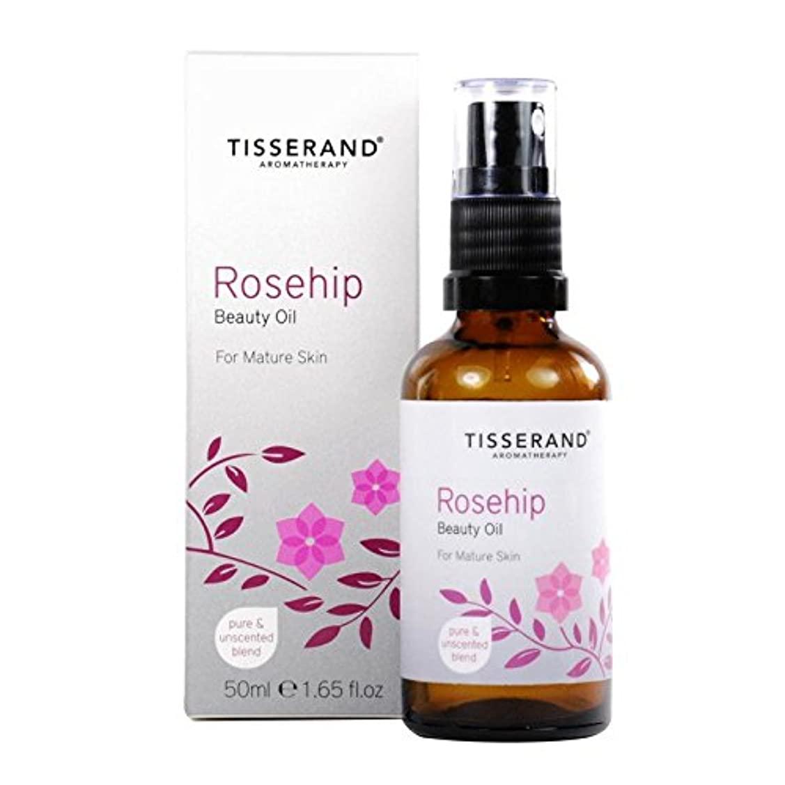 ティスランドローズヒップ美容オイル50ミリリットル x2 - Tisserand Rosehip Beauty Oil 50ml (Pack of 2) [並行輸入品]