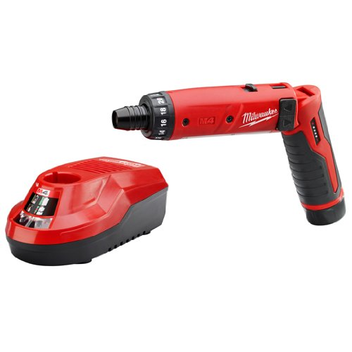 Milwaukee 2101-21 M4 1/4 Hex Screwdriver Kit W/1 Bat
