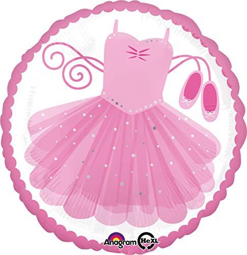 Amscan 3514201 folieballon Ballerina Tutu, roze, wit