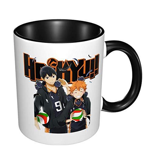 Haikyuu Anime Keramik Tasse Kaffeetasse Einzigartige Lustige Kaffeetasse Neuheit Reisebecher Urlaub Valentinstag Muttertag Geschenk für Männer & Frauen Teetassen & Kaffeetassen