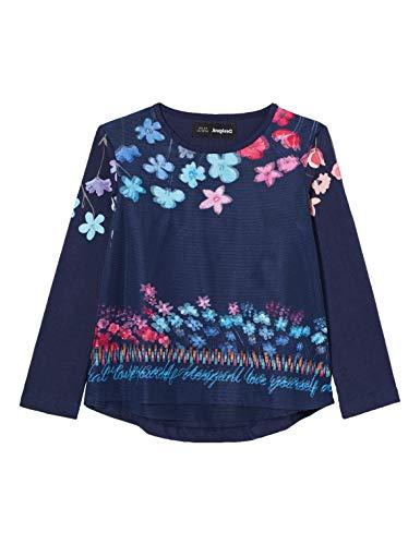 Desigual Girls TS_TEXCOCO T-Shirt, Blue, 3/4