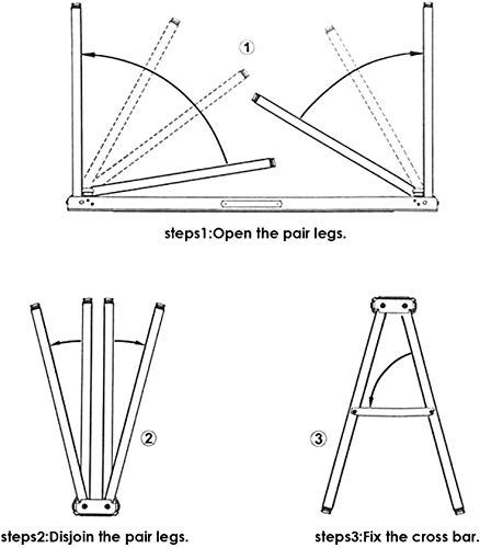 FEMOR 2 Stück Falt-Arbeitsböcke Klappbock bis 120kg belastbar platzsparend - 3