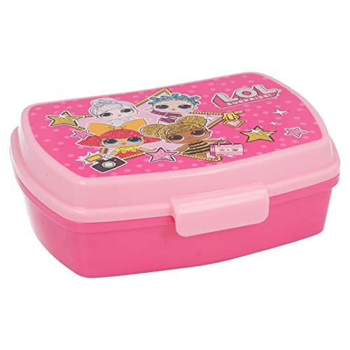 ALMACENESADAN 2046 Sandwichera Restangular Multicolor LOL Surprise; Producto de plástico; Libre BPA; Dimensiones Interiores 16,5x11,5x5,5 cm