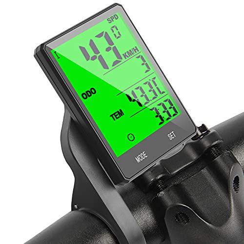 flintronic Cuentakilómetros para Bicicleta, Velocímetro inalámbrico Bicicleta con Pantalla LCD y Función de Despertador Automático, Bicicleta de Carretera MTB Bicicleta Bluetooth, Impermeable