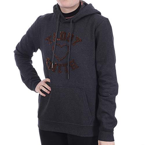 Teddy Smith 30815027D Sweatshirt, Melange Black, Medium Femme