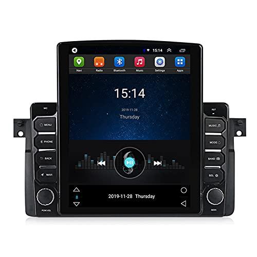 ADMLZQQ para BMW M3 E46 1998-2006 Car Radio Estéreo Navegación GPS Estéreo para Automóvil Android 9.7 Pulgadas, Bluetooth FM GPS DSP Controles del Volante Cámara Trasera,Ts200 4g+WiFi:2+32g
