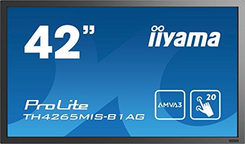IIYAMA Prolite TH4265MIS-B1AG 42'' 1920 X 1080PIXELES Multi-Touch Negro Monitor Pantalla TÁCTIL IIYAMA Prolite TH4265MIS-B1AG, 106,7 CM (42''), 6,5 MS, 400 CD/M², AMVA3, 3000:1, INFRARROJO