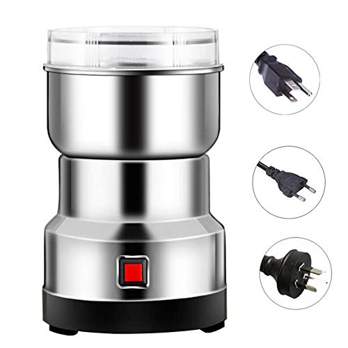 Teckey Electric Coffee Grinder, 550W Multifunction Smash Machine, Stainless Steel Grain Grinder, Low Noise Household Small Cereals Grain Mill Herb Grinder Pulverize for Coffee Bean Spice Seeds