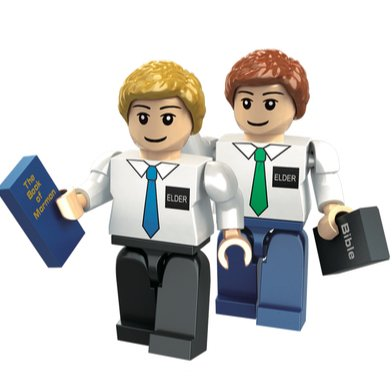 Brick'Em Young Elder Missionary Figurine Set