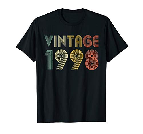 Image of the Retro Vintage 1998 Shirt 22nd Birthday Gifts 22 Years Old T-Shirt