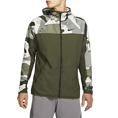 Nike Men's Flex Camo Full-Zip Jacket (XXL, Cargo Khaki/Light Bone/Black)