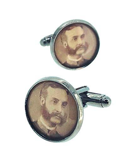Gemelolandia | Gemelos para Camisa Alfonso XII Rey de España Gemelos Originales...