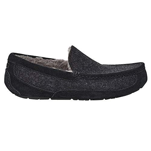 UGG Mens Ascot Wool Slipper, Black TNL, Size 11