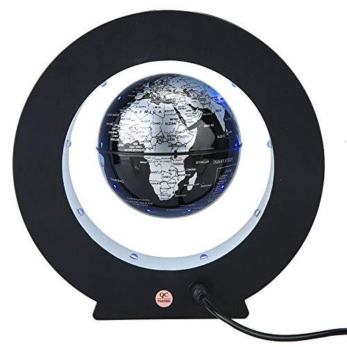 Magnetisch zwevende wereldbol, elektronische roterend, anti-zwaartekracht, levitatiebol met lampen, wereldkaart voor geschenk thuis, kantoor