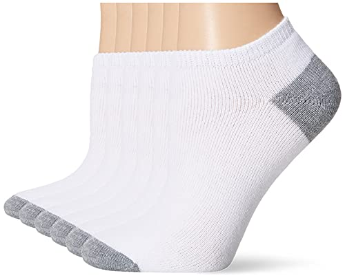 Fruit of the Loom - Calcetines para mujer (6 unidades, talla 10-12), Blanco/Gris, Shoe Size: 4-10