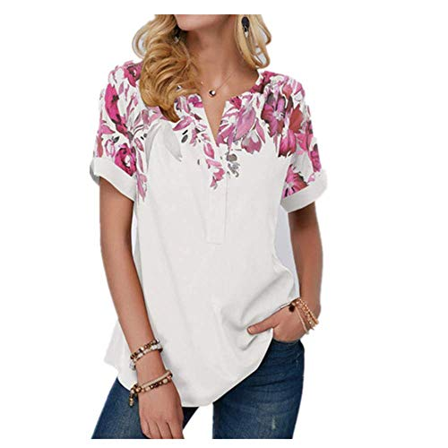 De gran tamaño de las señoras Tops de manga corta de impresión de las mujeres de la camiseta de verano nueva mujer casual suelta más el tamaño de la camiseta ropa