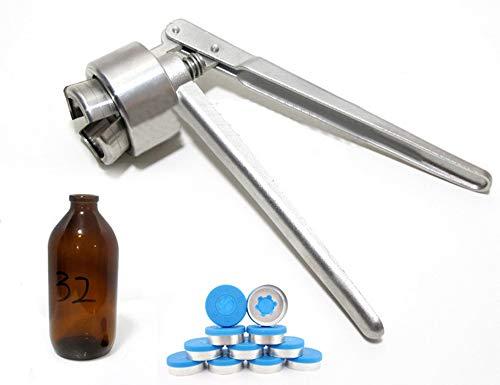 MXBAOHENG 32mm handmatige flacon krimper roestvrij staal kapperklem voor aluminium kunststof grote kaliber zoutoplossing Infusion fles