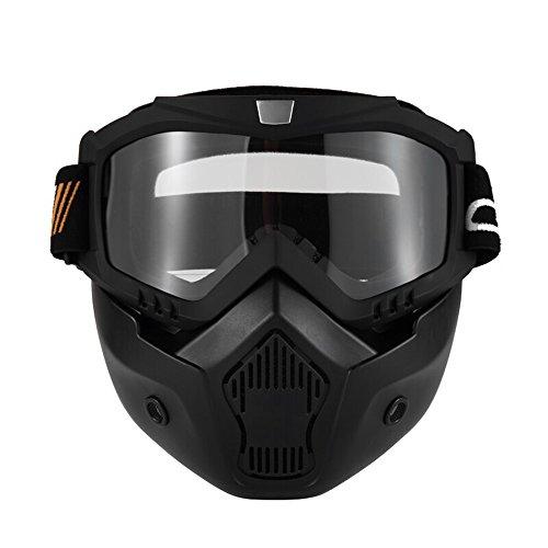 KKmoon Gafas Desmontable Mascara del Moto Filtro de Boca