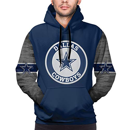Dallas Cowboys Men's Hoodie Casual Sweatshirt Football Team Hooded Sweater with Pocket S
