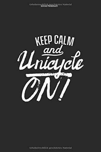 Einrad Notizbuch: 100 Seiten | Karierter Inhalt | Fahren Hobby Geschenk Liebhaber Einräder Unicycle Fahrer Einradfahrerin