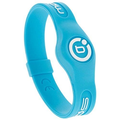 Magnetisches Therapie-Armband aus Silikon von Bioflow, in verschiedenen Farben, neonblau, L (20.5 cm)